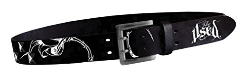 Logo Print Belt With Studds