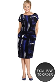 Twiggy for M&S Collection Abstract Print Dress