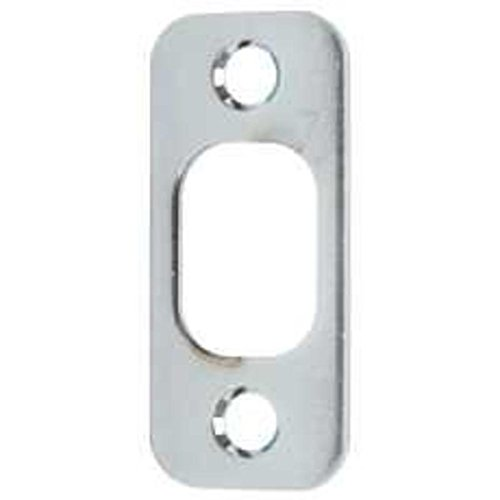 Kwikset 85063-003 1x 2-1/4 Satin Chrome Round Corner Deadbolt Strike kwikset 85063 003 1x 2 1 4 satin chrome round corner deadbolt strike