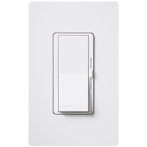 Lutron DVELV-300P-WH 300-Watt Diva Electronic Low Voltage Single Pole Dimmer, White photo