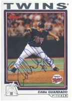 Eddie Guardado Minnesota Twins 2003 Topps Autographed Hand Signed Trading Card. by Hall+of+Fame+Memorabilia