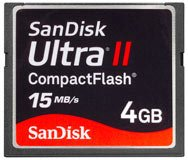SanDisk Ultra Compact Flash Card - 4GB
