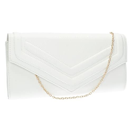 Audrey Premium PU Leather Envelope Womens Clutch Bag Ladies Purse Evening Bag -- SWANKYSWANS