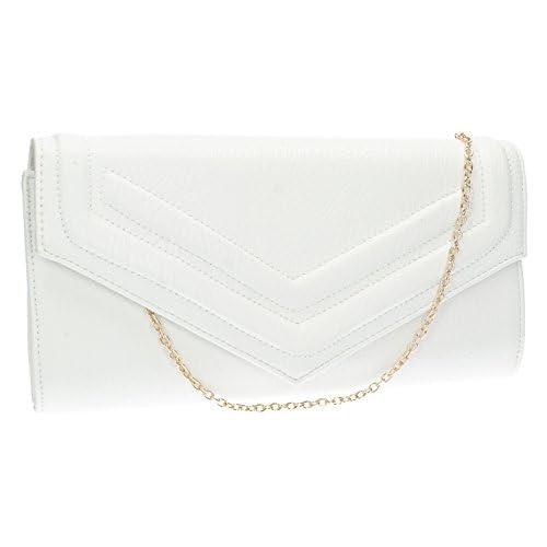 Audrey Premium PU Leather Envelope Womens Clutch Bag Ladies Purse Evening Bag -- SWANKYSWANS