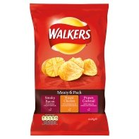 Walkers Crisps 6 Pack (Meaty Variety) (Chicken Chips Walkers compare prices)