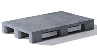 EURO-Kunststoffpalette-ohne-Rand-Oberdeck-geschlossen-anthrazit-Europalette-Kufenpalette-Kunststoffpalette-Kunststoffpaletten-Palette-Kunststoff-Palette-Exportpalette-Industriepalette-Lagerpalette-Was