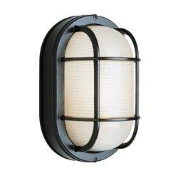 Trans Globe Lighting 41015 BK 16-Inch 1-Light Large Outdoor Bulkhead, Black