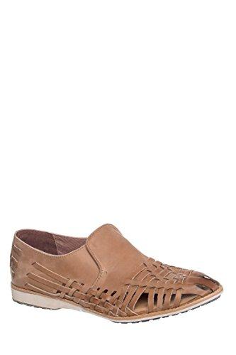 Unisex Leather Slip-On Huarache