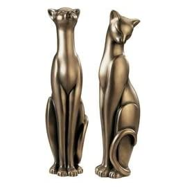 Classical Silk & Satin Feline Sculptures By Gabriella Veronese