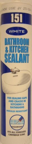 WHITE BATH AND KITCHEN FUNGAL RESISTANT SEALANT