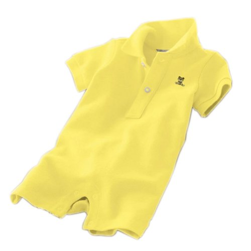 Baby Polo Bodysuit Infant Romper Toddlers Onesies Learn Creeping Climbing Yellow