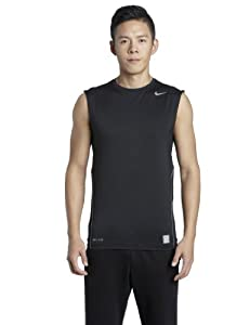 NIKE Herren Ärmelloses Shirt Core Compression, black/cool grey, S, 269602-010