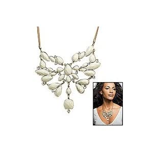Avon Faux Ivory Glam Statement Necklace