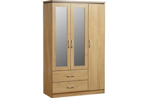 charles-3-door-wardrobe-2-drawers-oak-and-walnut