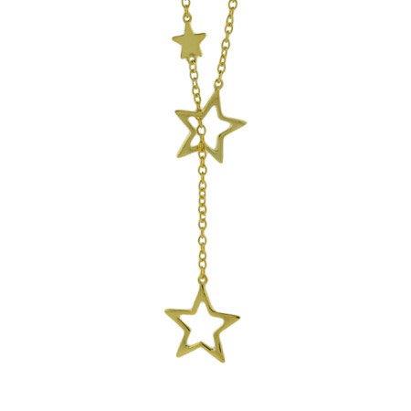 Cascading Stars Gold Vermeil Lariat