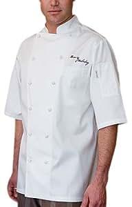 Chef Works ECSS-WHT Capri Egyptian Cotton Short Sleeve Coat, White, Size 54