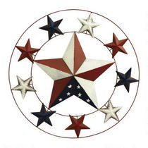 Americana Red, White and Blue Iron Star Wreath