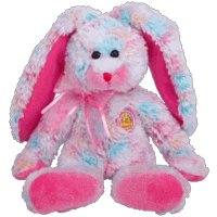 TY Beanie Baby - FRITTERS the Bunny (BBOM March 2005) - 1