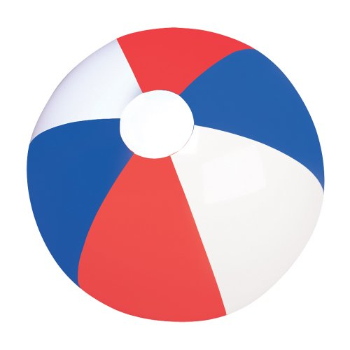 "16"" RED, WHITE AND BLUE BEACHBALL / PATRIOTIC BEACH BALL (pack of 12)"