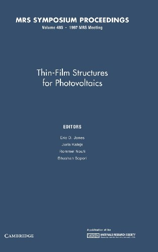 Thin-Film Structures for Photovoltaics: Volume 485 (MRS Proceedings)
