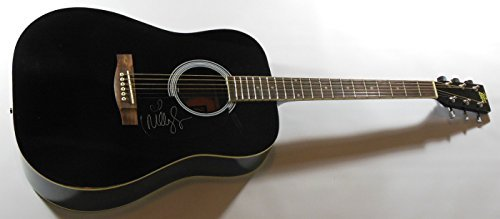 Miley Cyrus Bangerz Wrecking Ball Signed Autographed Full Size Black Acoustic Guitar Loa