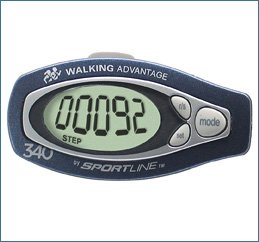 V8CJ7P Sportline Step & Distance Digital Pedometer