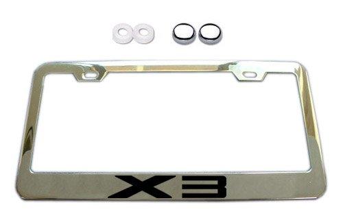 BMW X3 Series Chrome License Plate Frame w/ Screw Covers (Bmw License Plate Frame 3 Series compare prices)