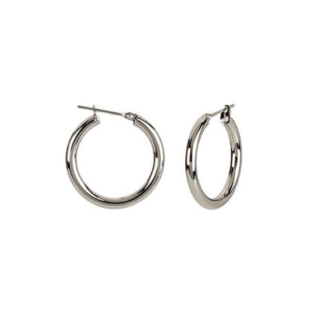 3mm, Stainless Steel Hoop Earrings 30mm (1 1/8