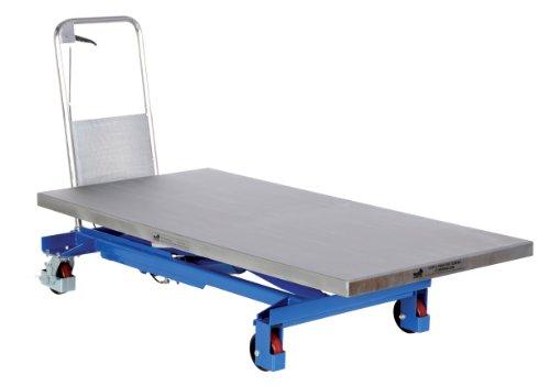 "Vestil Cart-1000-Ld Single Scissor Hydraulic Elevating Cart, 1000 Lbs Capacity, 63"" Length X 31-1/2"" Width Platform"