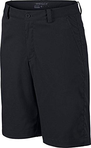 Nike Boy's Flat Front Short - Black - Medium