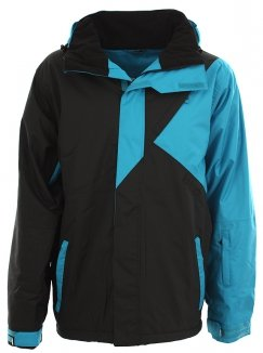 LIGHT Erwachsene Jacke Tinker, Black Electric Blue, L, FA742-13