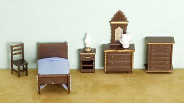 "Dollhouse 1/4"" 8 Piece Bedroom Set"