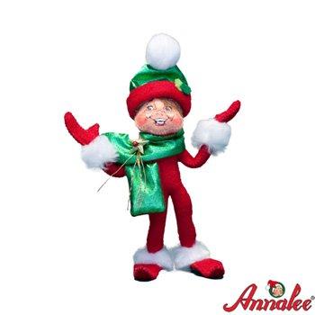 """Annalee 5"""" Red Holiday Twist Elf"""