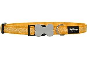 Red Dingo Designer Dog Collar, Medium, Cosmos Yellow