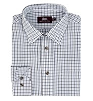 Pure Cotton Overchecked Twill Shirt