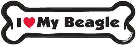 """R&M I Love My Beagle Dog Bone 2""""x 7"""""""