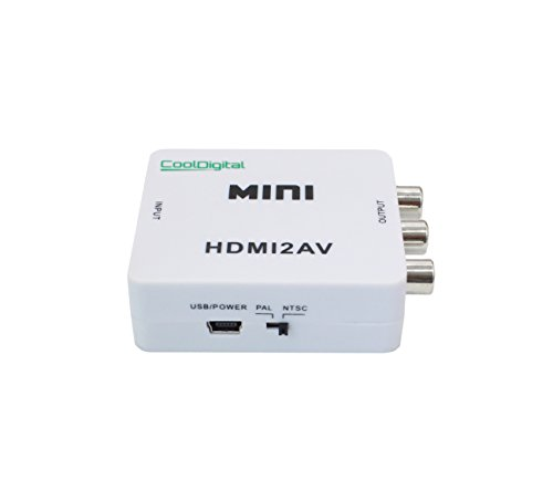 Cooldigital 1080P HDMI to AV 3RCA CVBS Composite Video Audio Converter Adapter Supporting PAL/NTSC with USB Charge Cable for PC Laptop Xbox PS4 PS3 TV STB VHS VCR Camera DVD white (Old Ps3 compare prices)