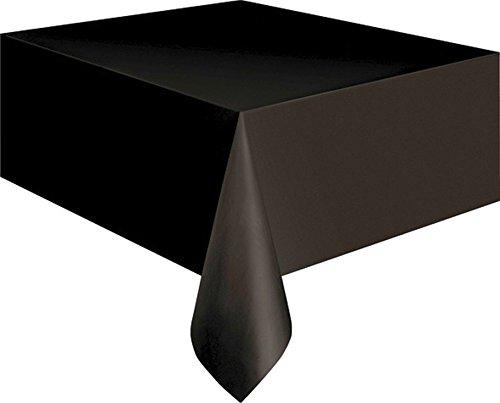 Nappe noir film plastique 137 x 274 cm nappe décoration Halloween - décoration de table - déco de table