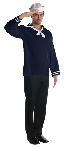 Rubie's Costume Heroes And Hombres Adult Sailor Blue Shirt And Hat