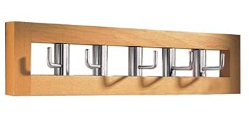 SPIN - Horizontal Wall Coat Hooks - Pine
