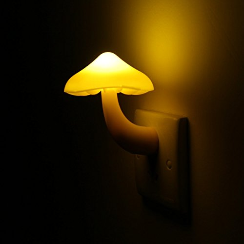 LORIZA® Mushroom Light Sensor LED Romantic Night Light with Plug - 1