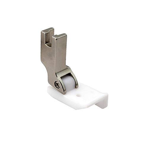Cutex (TM) Brand Leather Sewing Teflon Hinged Top-Stitching Presser Foot with Right Guide (1/4) (Tamaño: 1/4)