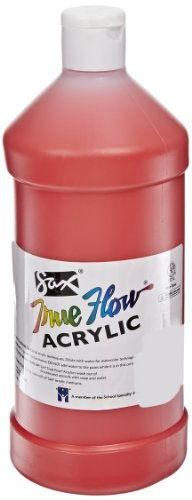 Sax True Flow Medium Bodied Acrylic Paint - Quart - Fire Red