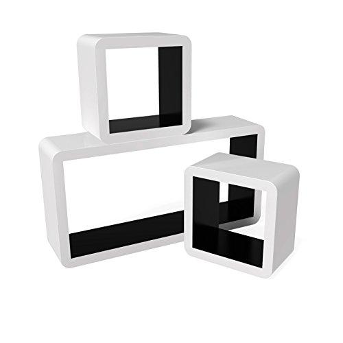 Songmics-3er-Set-Lounge-Cube-Regal-Retro-Wandregal-Rack-Hngeregal-Farben-auswhlbar-Wei-Schwarz-LWS92B