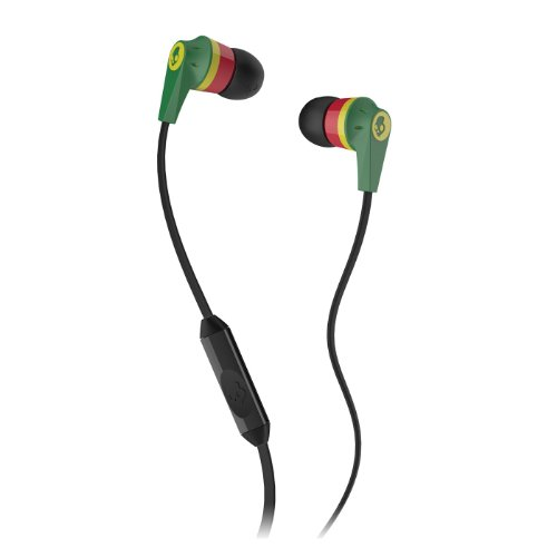 Skullcandy Ink'd 2.0 Ear-buds with Mic (Rasta)