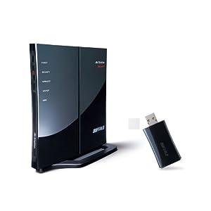 バッファロー 無線LANルーター AirStation NFINITI WHR-G301N/U 子機付き