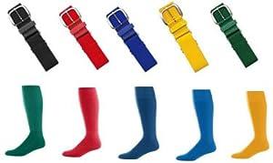 Buy Joe's USA | Youth Navy Baseball Socks & Navy Baseball Belt by Joe's USA