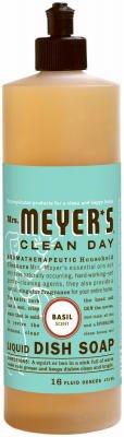 Mrs. Meyer'S Clean Day Liquid Dish Soap, Basil, 16 Fluid Ounce