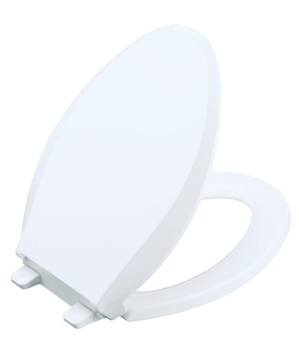KOHLER K-4636-0 Cachet Quiet-Close Elongated Toilet Seat, White