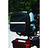 Holdall with Contrasting Piping - Black and Red